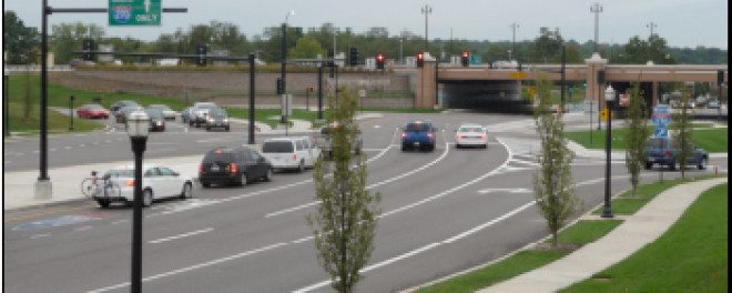 I-270/Dorsett Road Diverging Diamond Interchange (DDI)